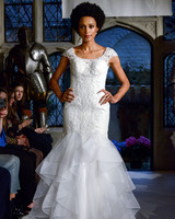 oleg cassini lace trumpet wedding dress spring 2018