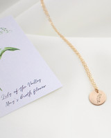 personalized gift birth flower necklace