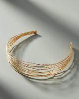 gold strand headband hair accessory