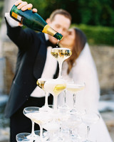 ramsey charles ireland wedding champagne tower