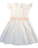 "Short Sleeve Flower Girl Dress, Los Encajeros ""Iris Ceremonial"" Dress"