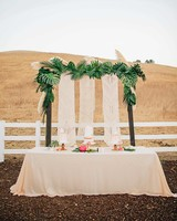stephanie jared wedding macrame