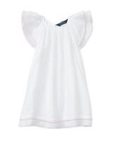 summer flower girl dress white flutter sleeves