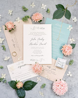 Peach and Aqua wedding color scheme