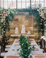 suspended wedding cake tables erin j saldana
