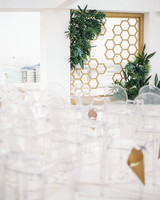 vanessa abidemi wedding ceremony clear chair seating