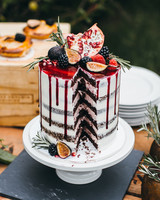 fruit wedding cake with drip