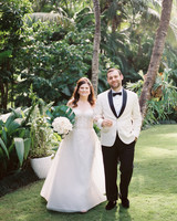 abbey jeffrey wedding couple portrait with foliage