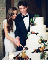 afton travers wedding cakecutting