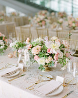 anwuli patrick wedding pastel centerpieces on table