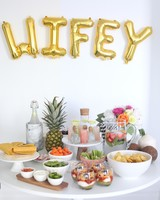 bachelorette party food drinks