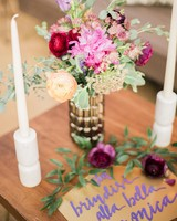 boho chic bachelorette party centerpiece sign