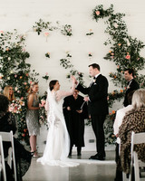 wedding ceremony high five