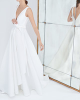 carolina herrera wedding dress fall 2018 v-neck a-line