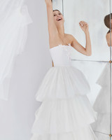 carolina herrera wedding dress fall 2018 tiered tulle strapless