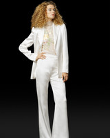 Sleek Wedding Suit with High-Waisted Pants