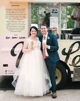bride groom ice cream truck