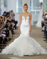 Ines Di Santo Mermaid Wedding Dress with V-Neck Spring 2018