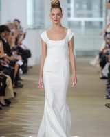 Ines Di Santo Sheath Wedding Dress with Cap Sleeves Spring 2018
