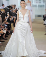 Ines Di Santo Wedding Dress with V-Neck Spring 2018