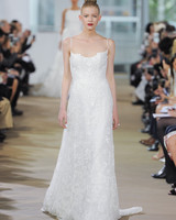 Ines Di Santo Spaghetti Strap Wedding Dress with Lace Spring 2018