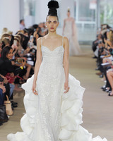 ines di santo spaghetti strap wedding dress spring 2018