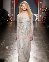 jenny packham wedding dress spring 2018 long-sleeve embellished sheath