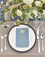 kaitlin dan wedding place setting