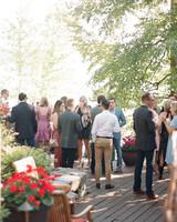 Guests Mingling at Rehearsal Dinner
