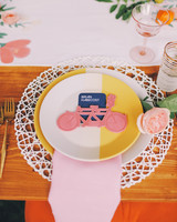 Pink and Yellow Bicycle Table Setting