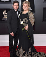 Kelly Clarson and Brandon Blackstock 2018 Grammy Awards