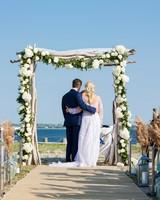 wedding ceremony bride groom