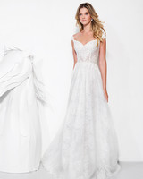 lavish by yaniv persy wedding dress spring 2019 lace off the shoulder a-line