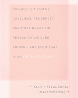 Love Quotes F Scott Fitzgerald Pleasing The 20 Best Love Quotes Of All Time  Martha Stewart Weddings
