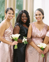 melissa justen wedding bridesmaids sparkly dresses