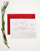 red-and-white save-the-date