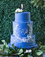 monogram wedding cake rodeo co bentleys bakery