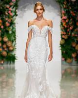 morilee madeline gardner wedding dress off-the-shoulder draped sleeves