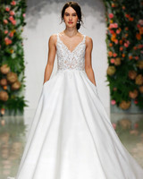 Morilee Madeline Gardner Fall 2019 Sweetheart Neckline Lace A Line Gown With Pockets
