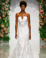 morilee madeline gardner fall 2019 strapless mermaid lace wedding dress