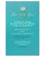 paperless engagement party invite blue ring