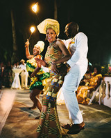 porsha terry wedding jamaica fire dancing