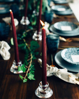 red wedding ideas table setting candles figtree wedding photography