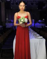 reformation spring 2018 wedding dress red spaghetti strap