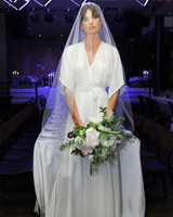 reformation three-quarter length sleeve wedding dress spring 2018