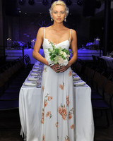 reformation floral spaghetti strap wedding dress spring 2018
