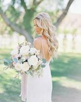 ribbon wedding ideas pastel ribbon wrapped around muted bridal bouquet