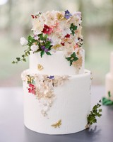 butterfly cake with flowers