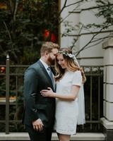 short wedding dress short sleeve crown