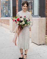 short wedding dress beaded
